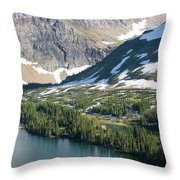A Man Stand Up Paddle Boards Sup Throw Pillow