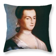 Abigail Adams (1744-1818) Throw Pillow