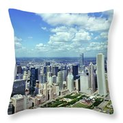 Aerial View Of A City, Chicago, Cook Throw Pillow