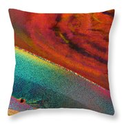 Agate Microworlds 1 Throw Pillow