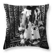 Alaska Eskimo Woman Throw Pillow