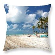 Beach At Coco Cay Throw Pillow