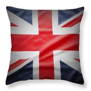 British Flag 17 Throw Pillow