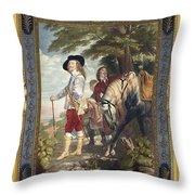 Charles I (1600-1649) Throw Pillow