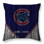 Chicago Cubs Throw Pillow