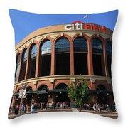 Citi Field - New York Mets 3 Throw Pillow