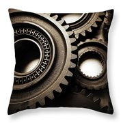 Cogs No14 Throw Pillow