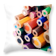 Crayons Throw Pillow