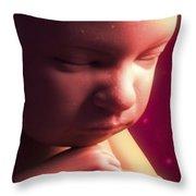 Developing Fetus Throw Pillow
