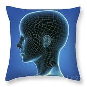 Digital Being Throw Pillow