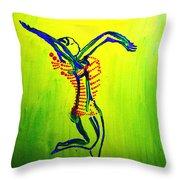 Dinka Dance - South Sudan Throw Pillow