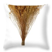 Dry Flowers Bunch Throw Pillow