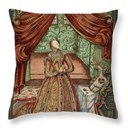 Elizabeth I (1533-1603) Throw Pillow