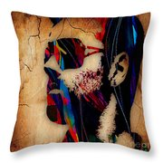 George Michael Collection Throw Pillow