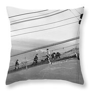 Golden Gate Bridge Work Throw Pillow
