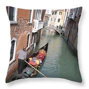 Gondola. Venice Throw Pillow