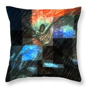 Halloween Mask Throw Pillow