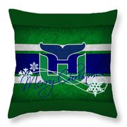 Hartford Whalers Throw Pillow
