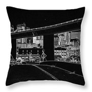 Heading Into The Busy Part Of San Francisco Throw Pillow