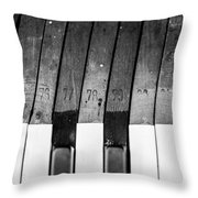 10 Keys Throw Pillow