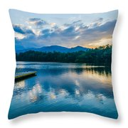 Lake Santeetlah In Great Smoky Mountains North Carolina Throw Pillow