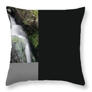 Landscape Of Becky Falls Waterfall In Dartmoor National Park Eng Throw Pillow