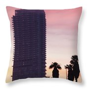 Low Angle View Of An Office Building Throw Pillow