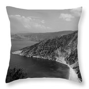 Myrtos Beach Throw Pillow