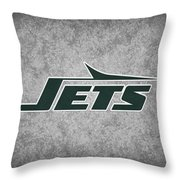 New York Jets Throw Pillow