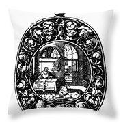 Pocket Watch, 19th Century Throw Pillow