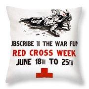 Red Cross Poster, C1917 Throw Pillow