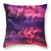 Red Sky At Morning Throw Pillow