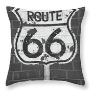 Route 66 Shield Throw Pillow