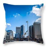 Skyline Of Uptown Charlotte North Carolina Throw Pillow by Alex Grichenko