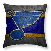 St Louis Blues Throw Pillow