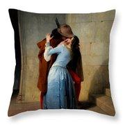 The Kiss Throw Pillow