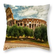 The Majestic Coliseum - Rome Throw Pillow