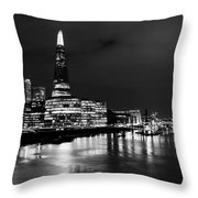 The Shard And Southbank London Throw Pillow