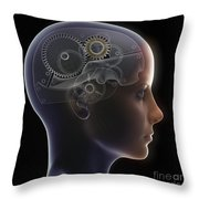 Thought Mechanism Throw Pillow