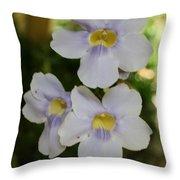 Purple Yellow Tropical Flower Throw Pillow