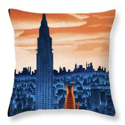 New Yorker January 12th, 2009 Throw Pillow