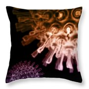 Virus Particles Throw Pillow