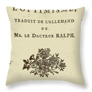 Voltaire Candide Throw Pillow