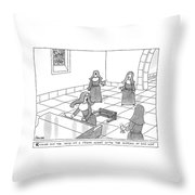 New Yorker April 23rd, 2007 Throw Pillow