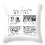 New Yorker July 10th, 2006 Throw Pillow