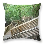 1000 Steps Throw Pillow