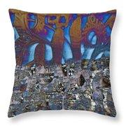 1001 Nights Over Granada Throw Pillow