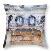 1004 Main Street Small Town Usa - Color Throw Pillow
