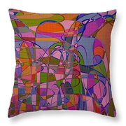 1008 Abstract Thought Throw Pillow