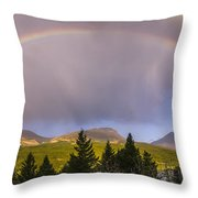 100801a-14 Two Medicine Rainbow Throw Pillow